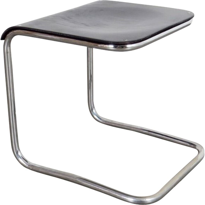 Vintage tubular stool in steel