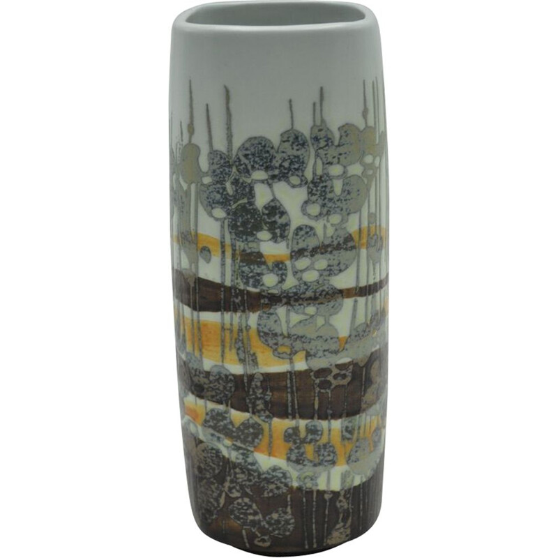 Vintage grey ceramic vase for Royal Copenhaguen