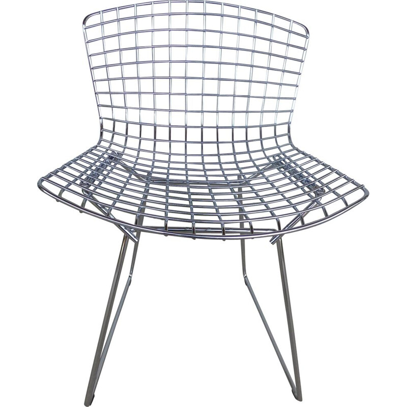 Metal chair by Harry Bertoia for Knoll