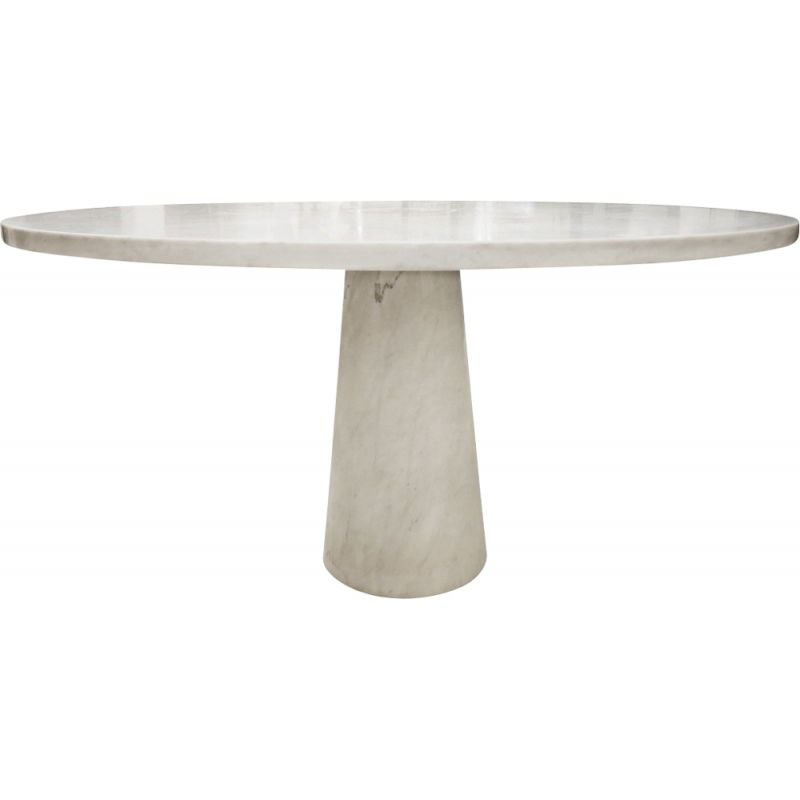 Round table in marble by Angelo Mangiarotti
