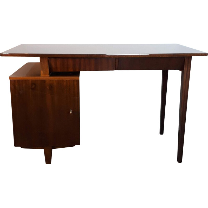 Vintage wooden desk by Mieczyslaw Puchalski