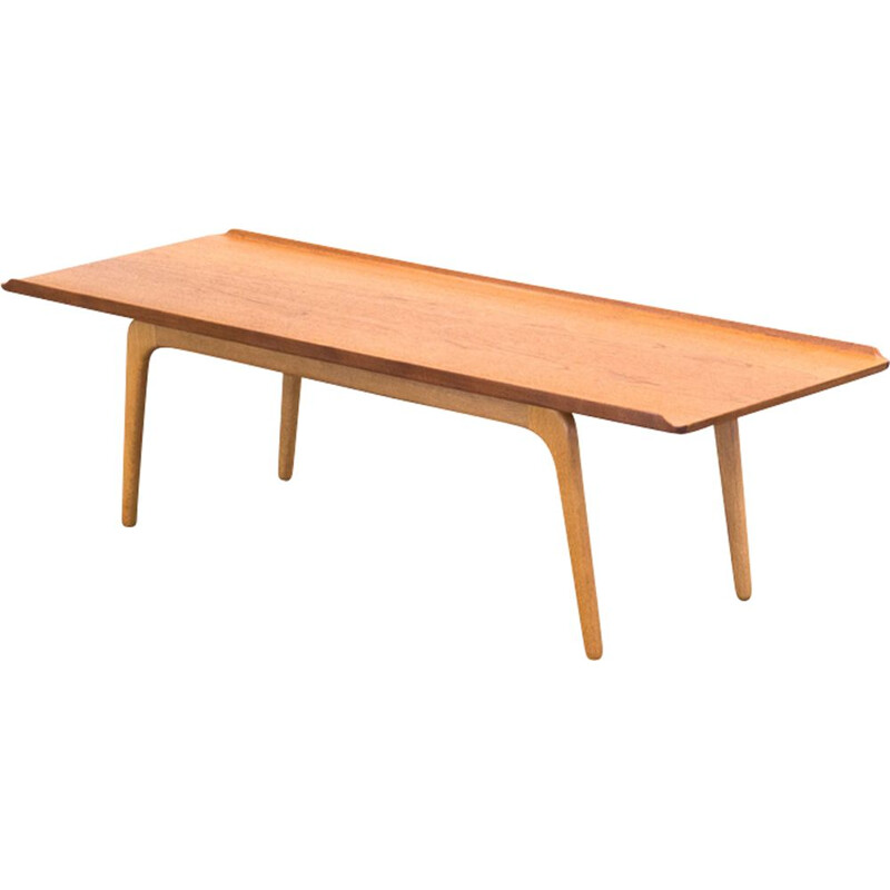 Teak and oak coffee table by Bovenkamp
