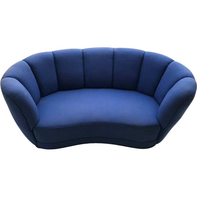 Banana sofa in blue fabric