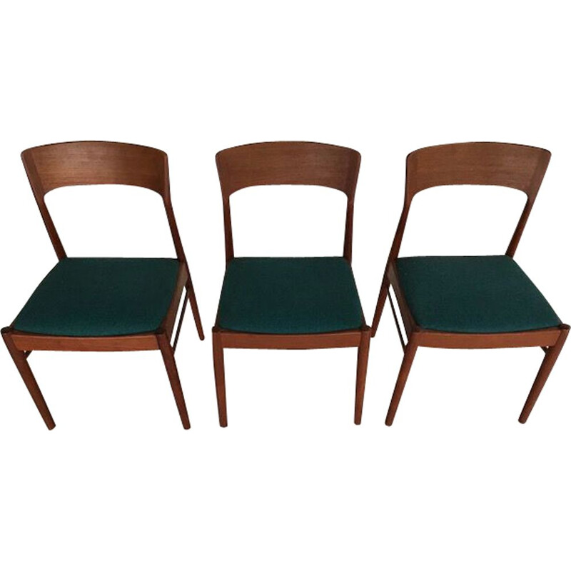Set of 3 Scandinavian chairs in teak