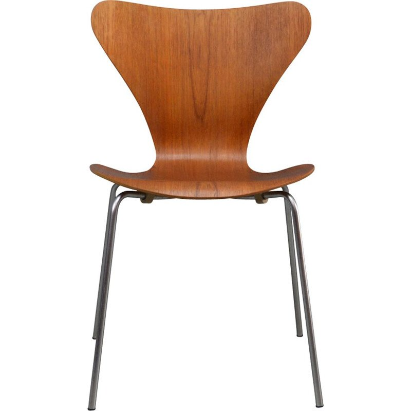 Vintage teak chair by Jacobsen for Fritz Hansen 1970