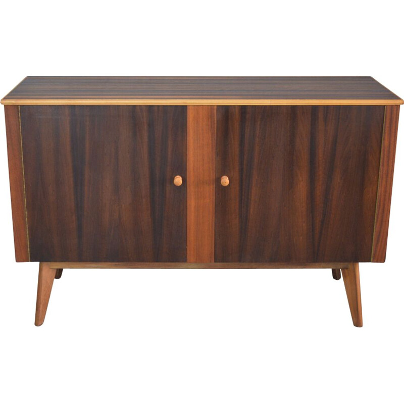 Vintage british walnut sideboard by Morris of Glasgow