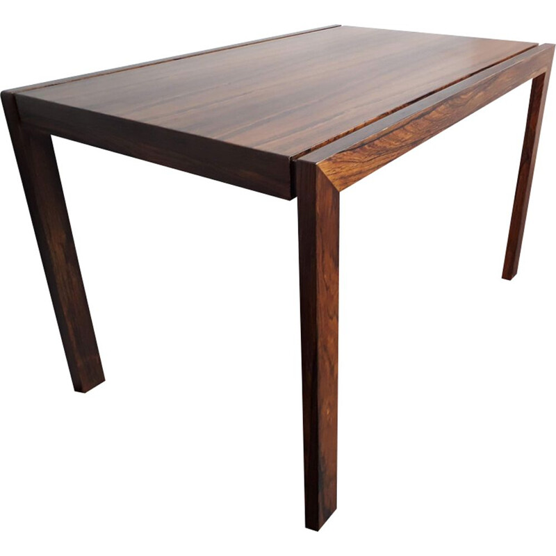 Vintage scandinavian side table in rosewood 1960