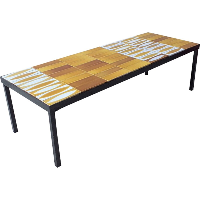 Coffee table in ceramic by Roger Capron