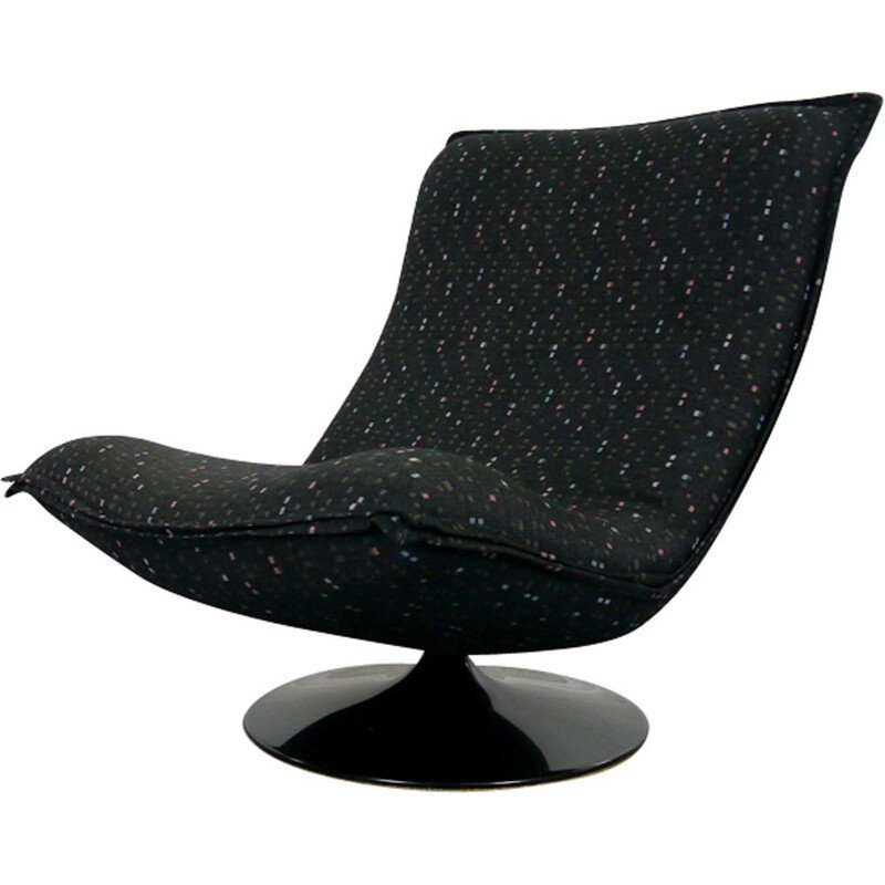 Black Tulip chair by Geoffrey Harcourt for Artifort
