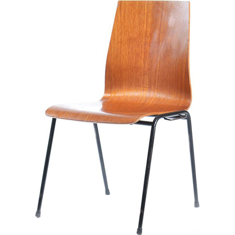 German chair in plywood and metal