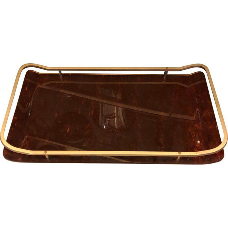 Italian tray made of brass
