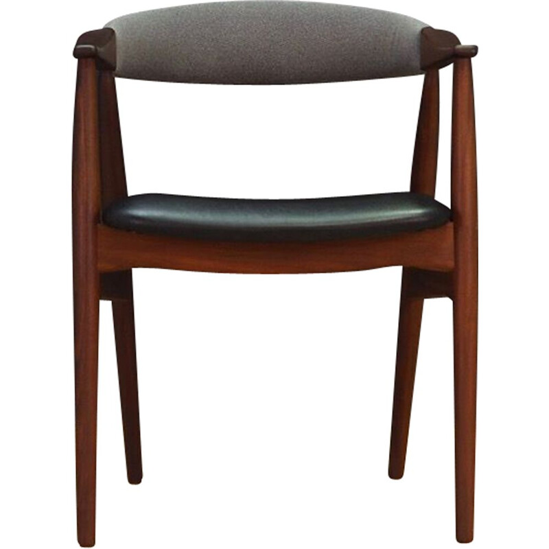 Teak and leatherette chair by Farstrup