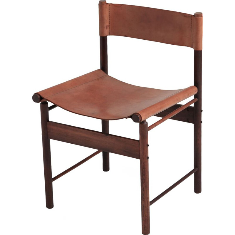 Set of 6 chairs in jacaranda by Jorge Zalszupin