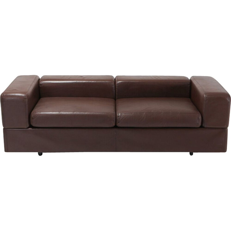 711 daybed in brown leather by Tito Agnoli