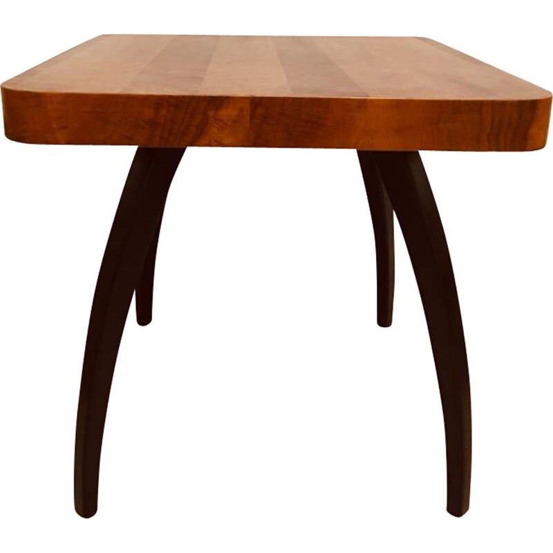 Vintage H-259 spider table by Jindrich Halabala for UP Závody in walnut