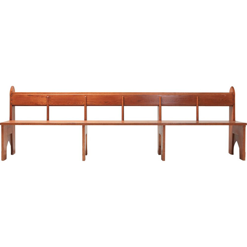 Vintage solid oakwood bench 1935