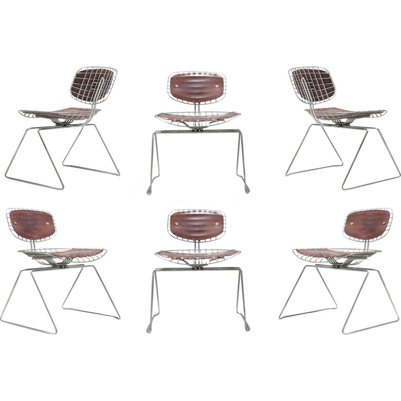 Set of 6 chairs by Michel Cadestin for Centre Pompidou - 1977