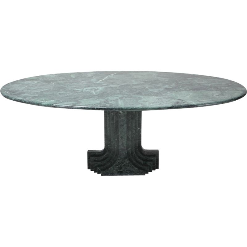 Vintage Carlo Scarpa dining table Samo in green marble