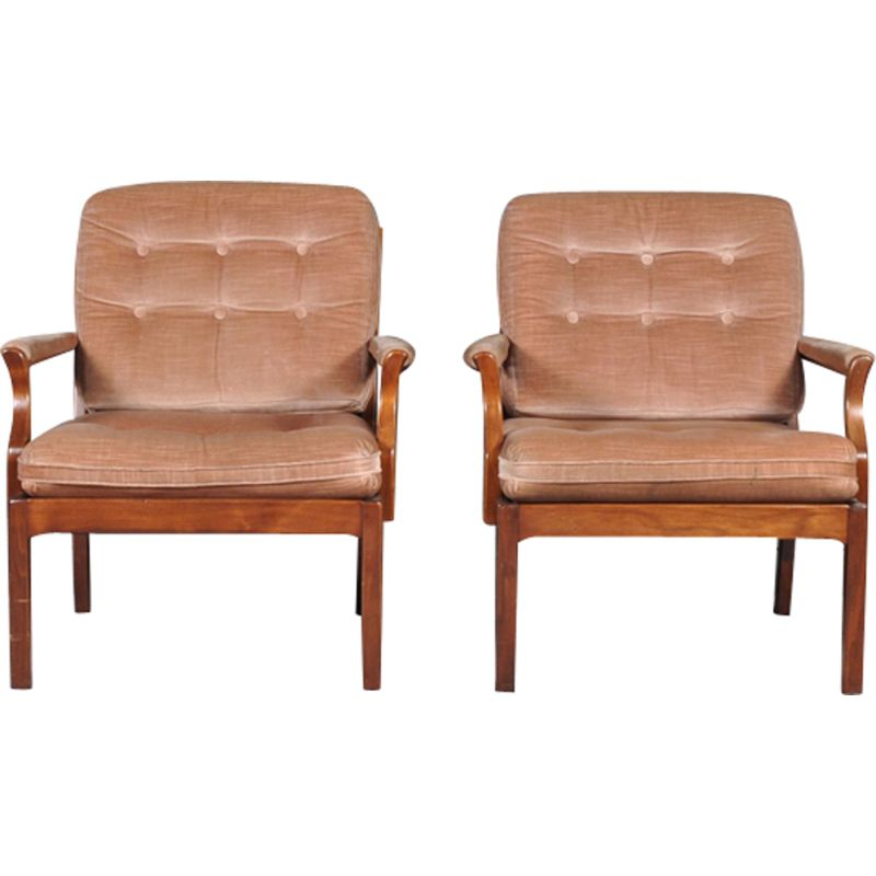 Set Of 2 Vintage Swedish Lounge Chairs Design Market