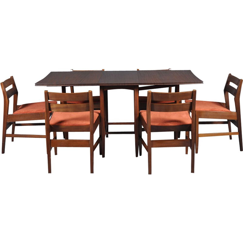 Vintage dining set with folding table