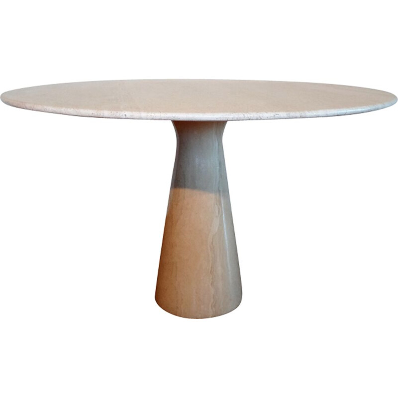 Vintage italian travertine table for Skipper 1970