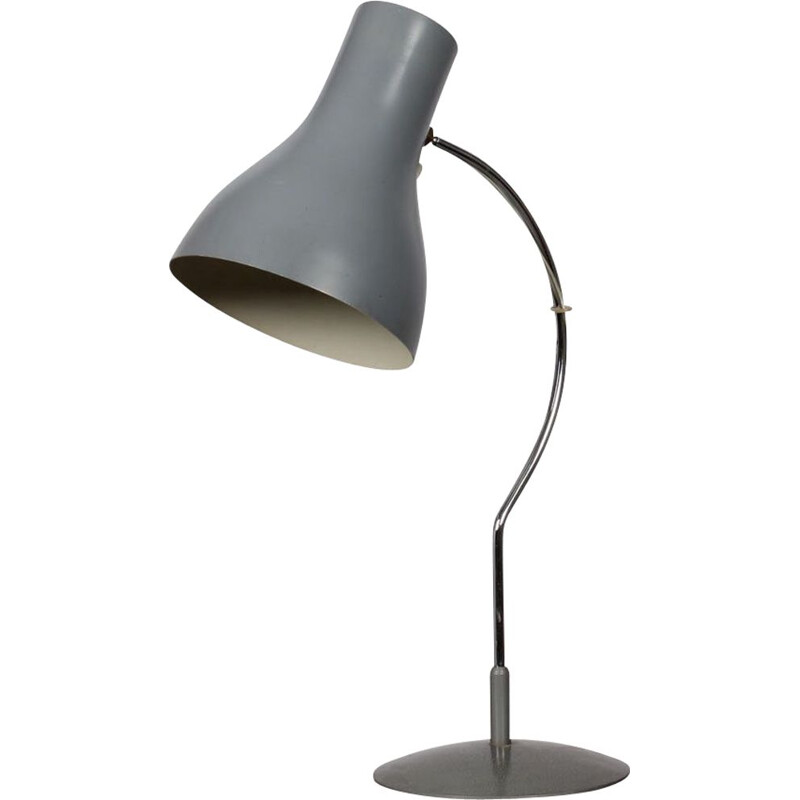 Vintage lamp for Napako in grey metal 1960