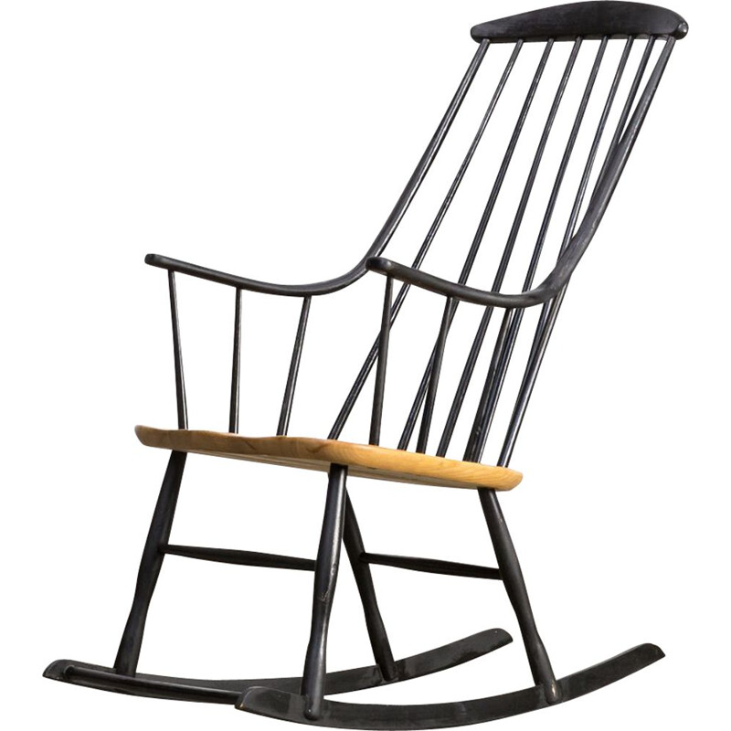 Vintage Grandessa rocking chair for Nesto in wood 1960