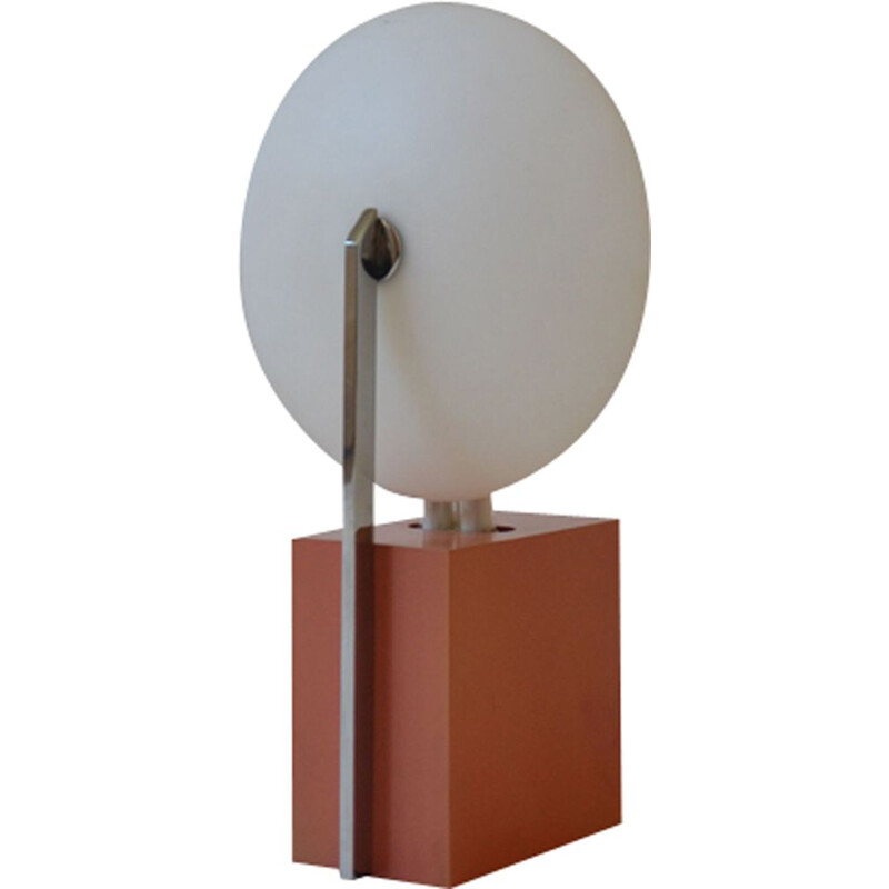 Vintage lamp for Verre Lumière in metal 1980