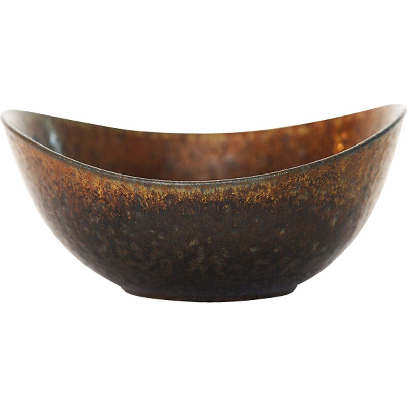 Brown Stoneware bowl by Gunnar Nylunds for Rörstrand
