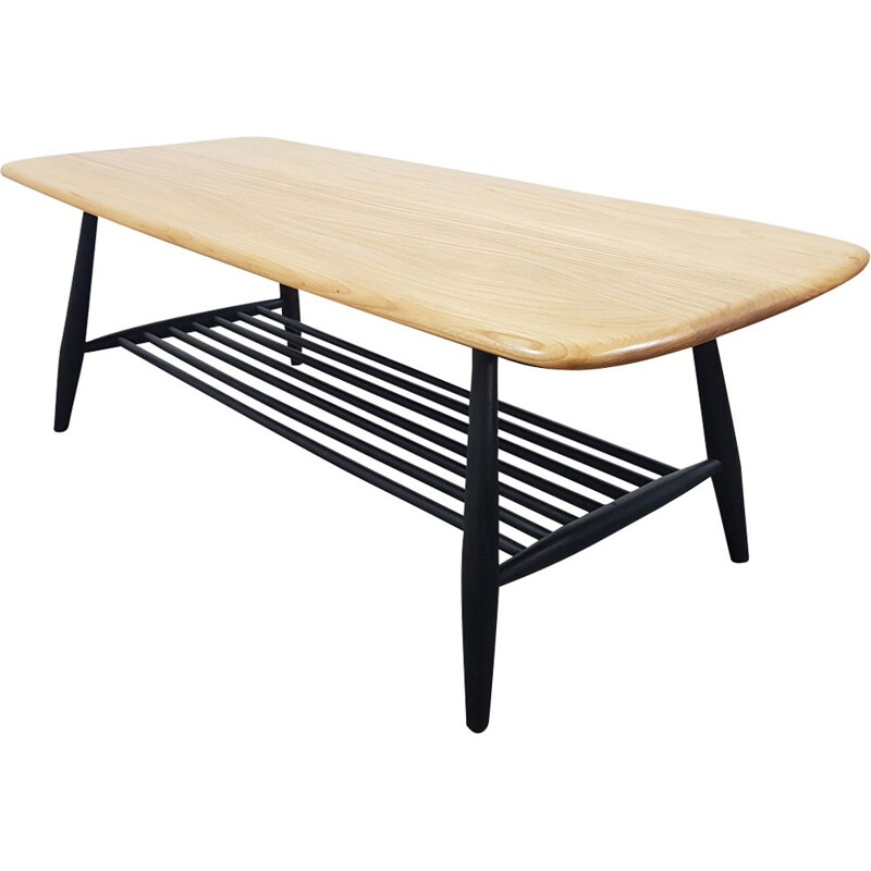 Coffee table in elm by Lucian Ercolani for Ercol