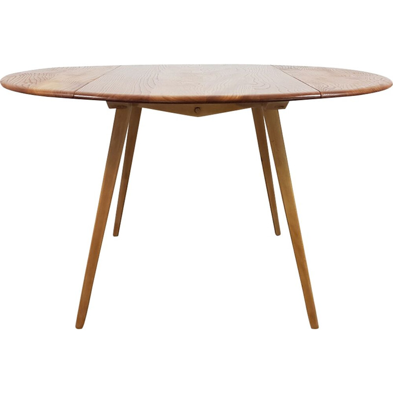 Vintage table in elm by Lucian Ercolani