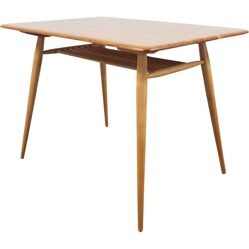 Vintage table in solid elm by Lucian Ercolani