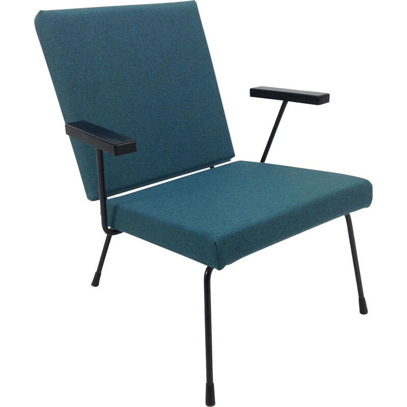 Blue armchair by Wim Rietveld for Gispen