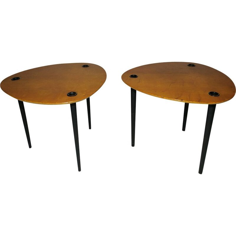 Vintage nesting tables Partroy by Pierre Cruege