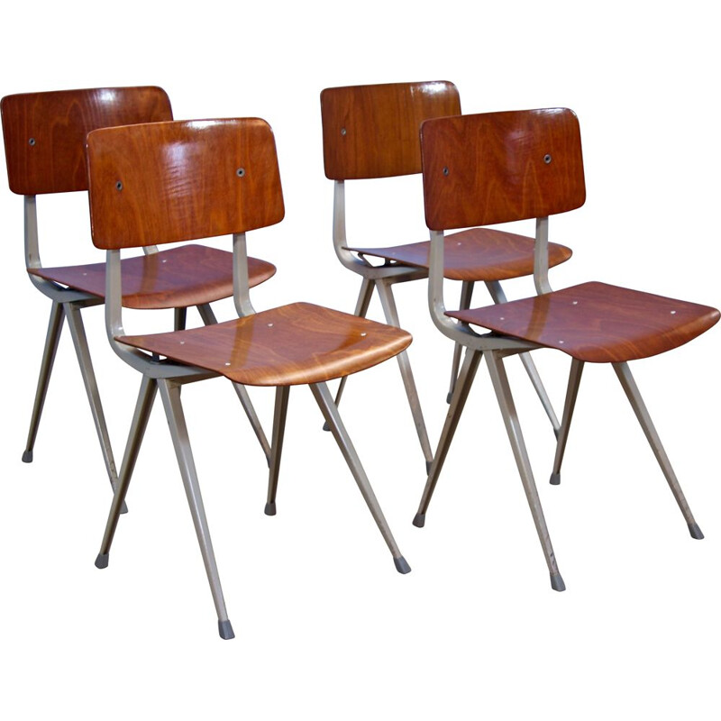 Set of 4 Result chairs by Friso Kramer