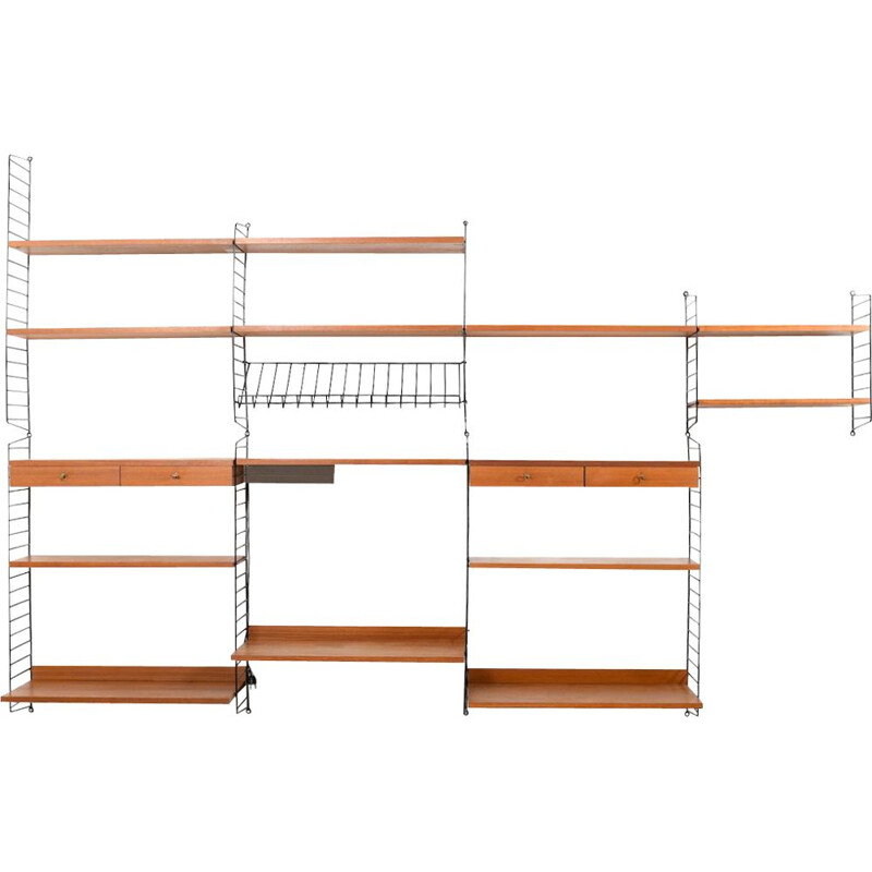 Vintage teak shelf system by Kajsa and Nils Nisse