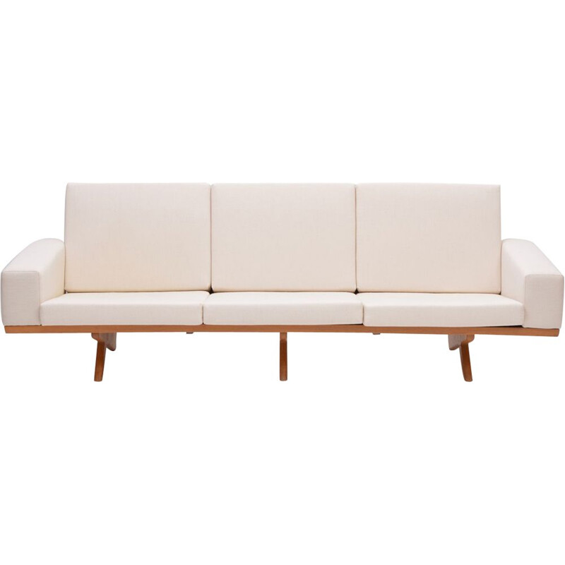 Vintage sofa for AS Vejen in yellow fabric and oakwood 1960