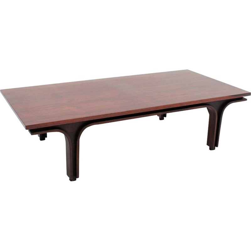 Vintage rosewood coffee table for Bernini 1960