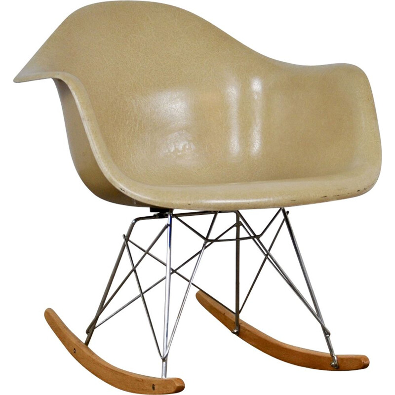 Vintage RAR rocking chair for Herman Miller in fiberglass 1960