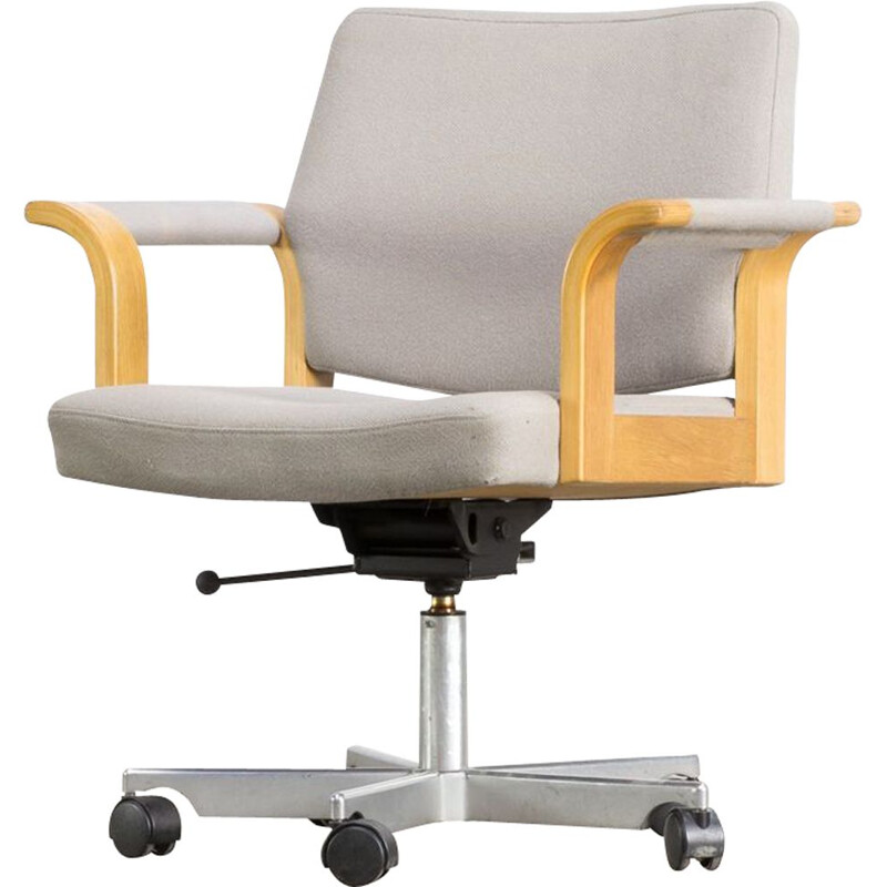 Vintage Rud Thygesen and Johnny Sørensen swivel desk chair for Magnus Olesen
