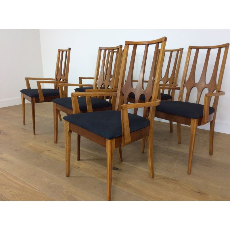 Set Of 6 Vintage Dining Chairs Brasilia By Broyhill Design Market