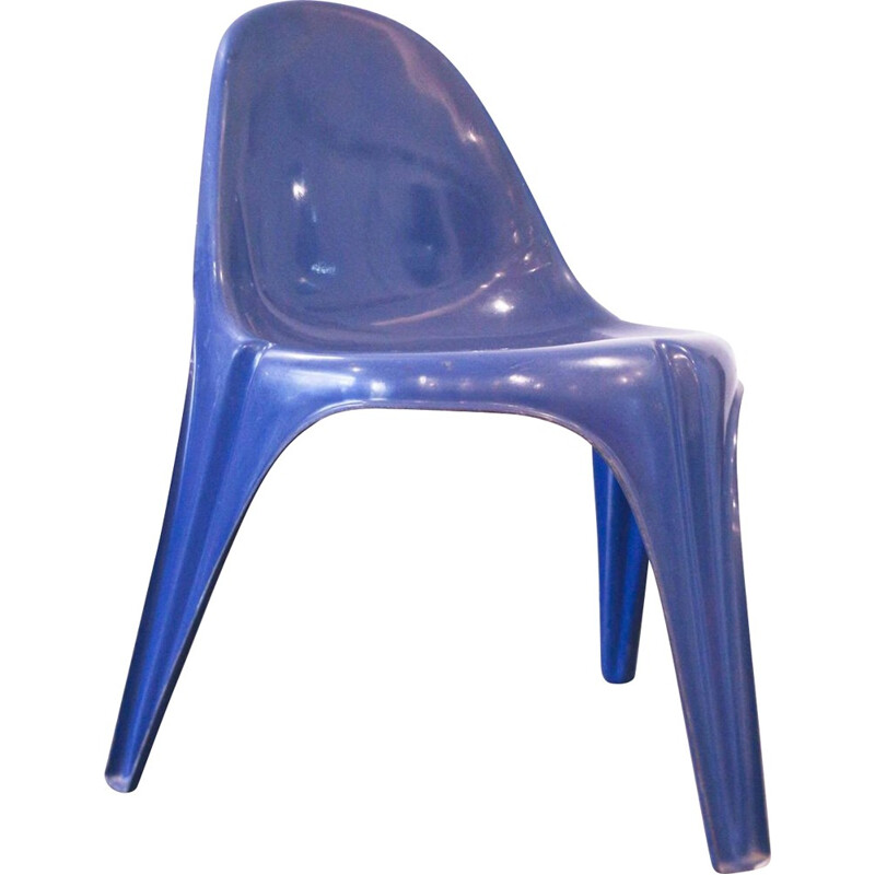 Tripod chair in fiberglass - 1968