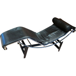 Leather and chrome lounge chair, LE CORBUSIER, Pierre JEANNERET & Charlotte PERRIAND - 1970s