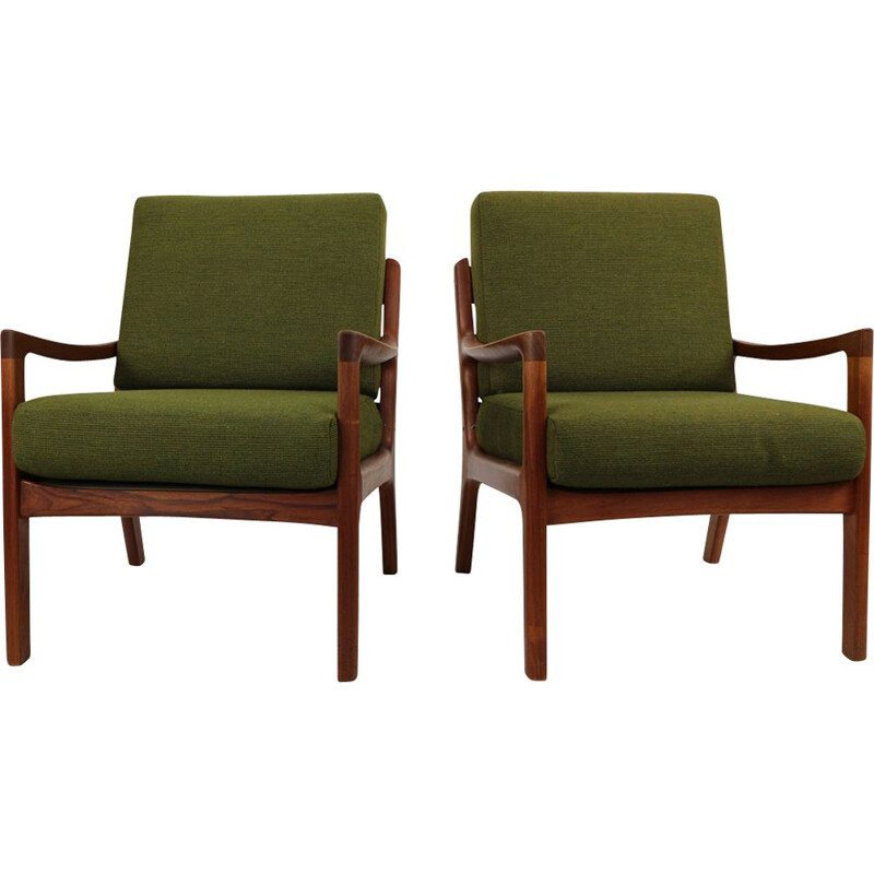 Vintage lounge chairs from Danemark by Ole Wanscher 1950s
