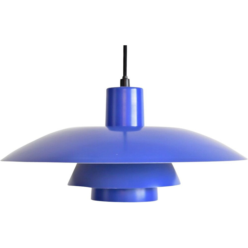 Vintage blue PH4 pendant lamp by Poul Henningsen 1950s