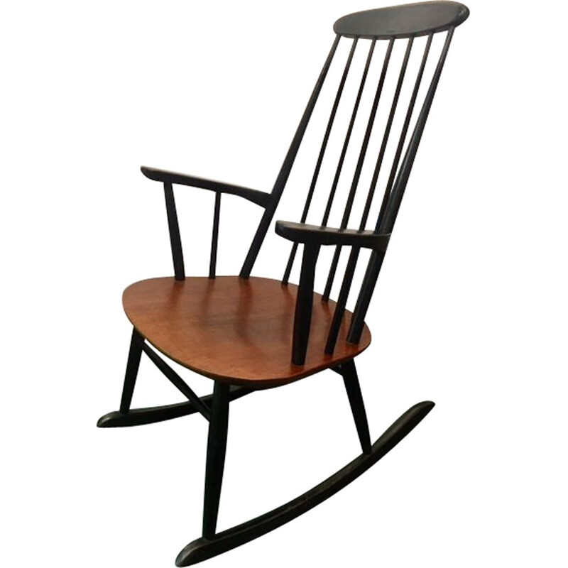 Vintage wooden rocking chair by Stol Kamnik