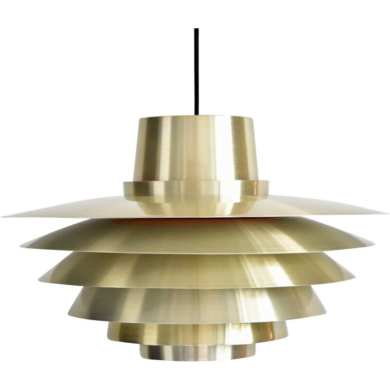 Vintage Verona pendant lamp for Nordisk Solar in brass colored metal
