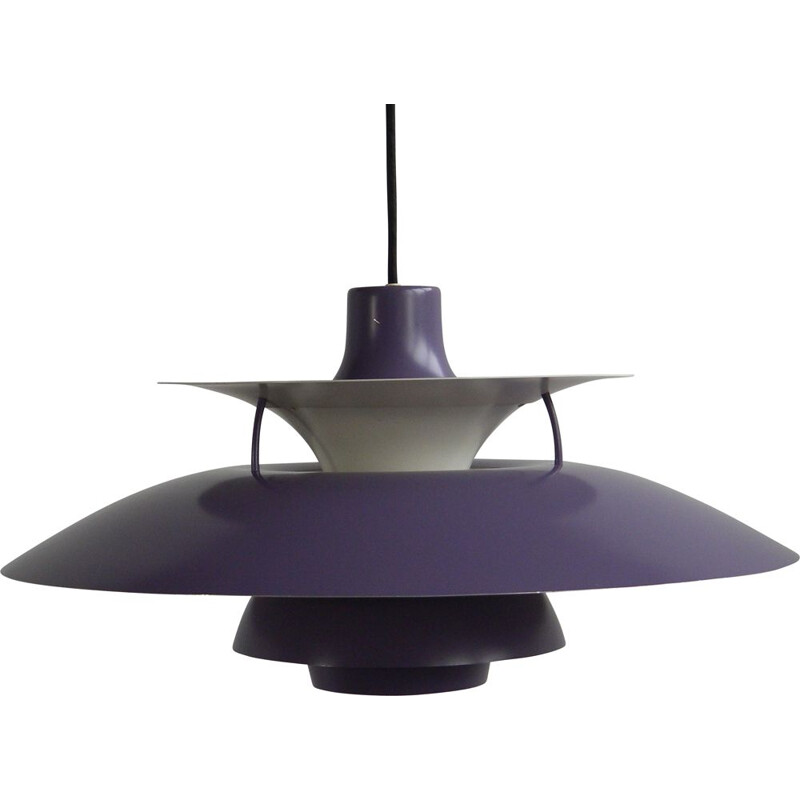 Vintage Danish hanging lamp Ph 5-6 purple by Poul Henningsen