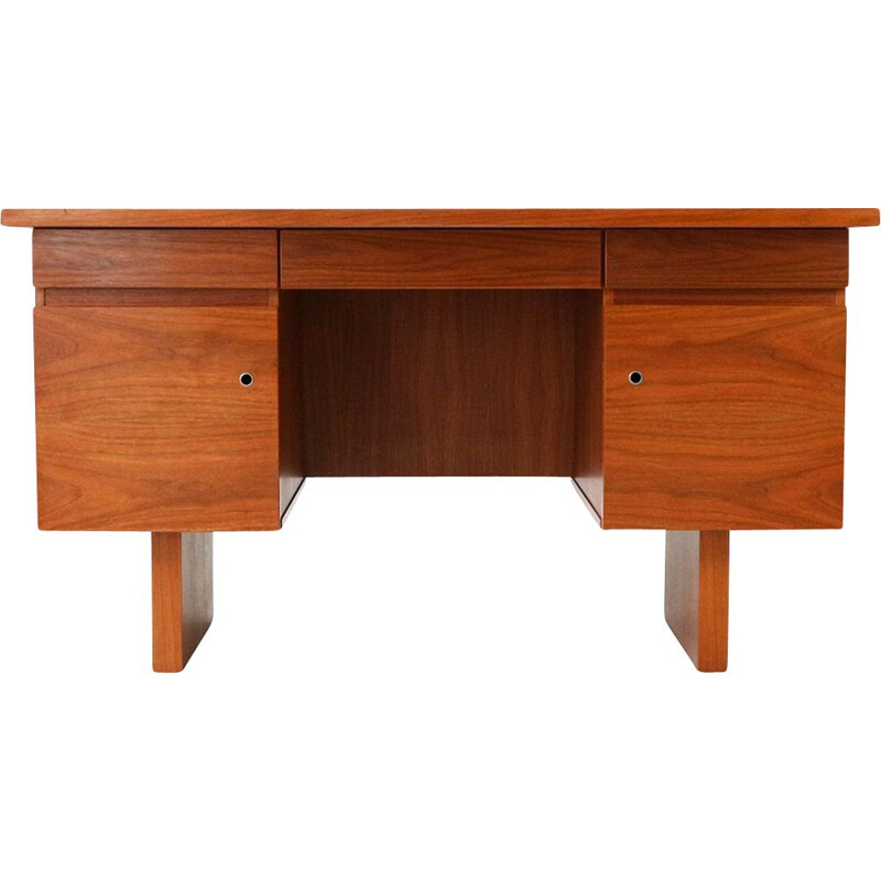 Vintage cubic walnut desk