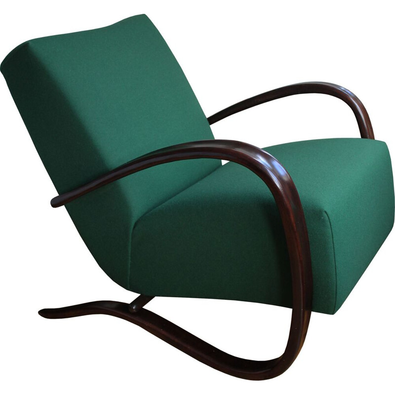 Vintage Czech H269 armchair by Jindrich Halabala for Up Brno